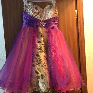 Leopard prom dress